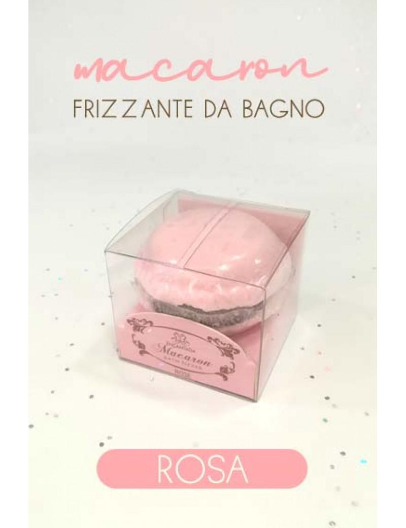 macaron frizzante da bagno - rosa