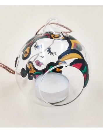 Pallina di Natale in vetro dipinta a mano