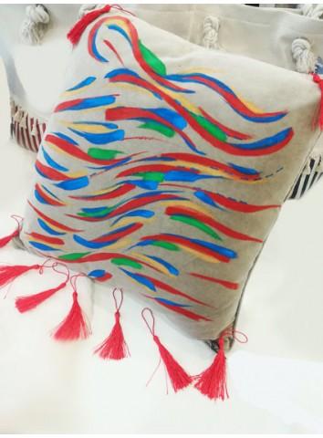 Cuscino artistico dipinto a mano - Amande Design