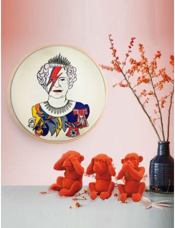 Illustrazione tessile dipinta a mano - Rock Queen Bowie