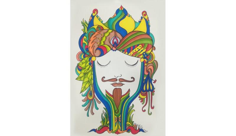 Illustrazioni dipinte a mano - Teste di Moro