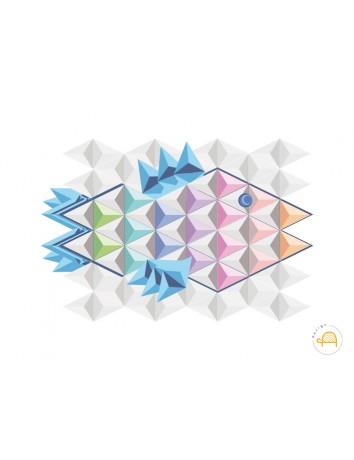 Poster Design Pesce geometricolor