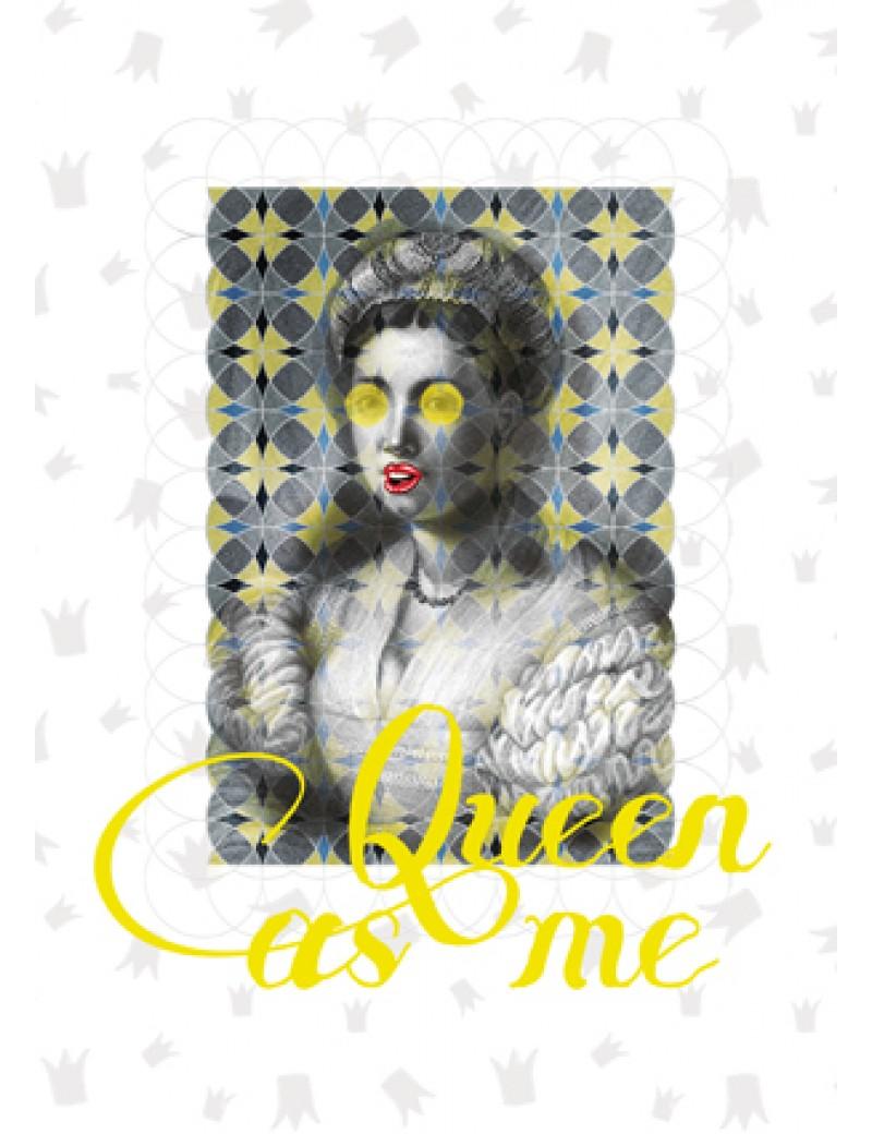 """Poster design """"Queen as me"""""""