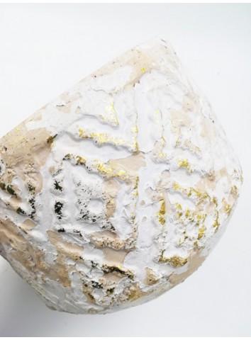 Portavasi anticato bianco/oro Zatti Decor