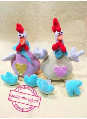 Pasqua Galline di stoffa colorate - (vendute singolarmente)