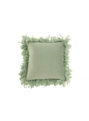 Cuscino velluto Piume Verde Menta - J-Line