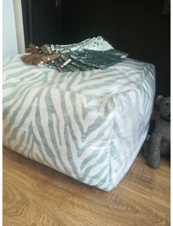 Pouf zebra verde menta - J-Line