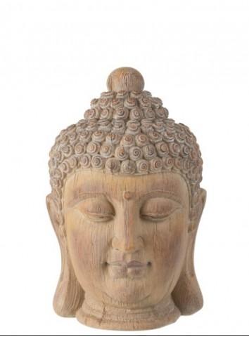 Testa di Buddha in legno - J-Line