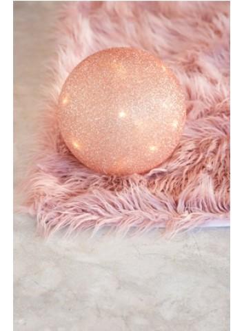 Palla Led rosa vetro