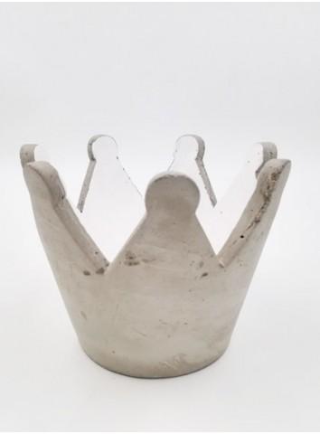 Corona del Re portacandele in cemento