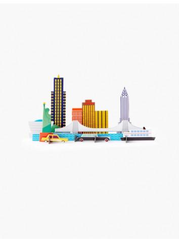 3D Città di New York studio Roof